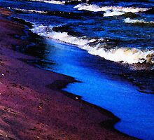 Lake Erie Shore by SRowe Art
