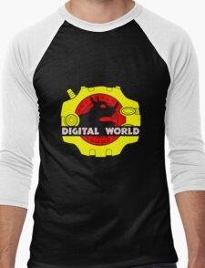 Digital World Men's Baseball ¾ T-Shirt