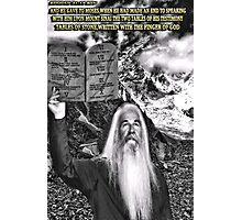 ☝ ☞ THE TEN COMMANDMENTS ☝ ☞ Photographic Print