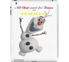 Olaf Xmas shirt Frozen shirt Olaf shirt  iPad Case/Skin