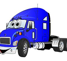 Semi Truck Cab Blue by Graphxpro