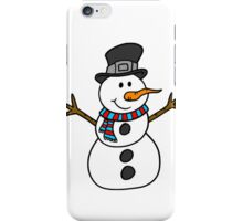 Snowman with hat iPhone Case/Skin