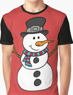 Snowman with hat Graphic T-Shirt