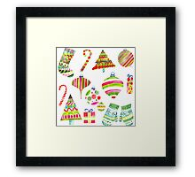 A Colorful Christmas Framed Print