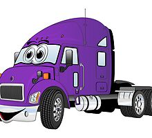 Semi Truck Cab Purple by Graphxpro