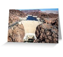 Hoover Dam - Lake Mead Greeting Card