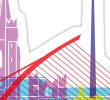 Dublin skyline pop Sticker