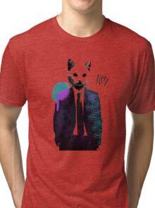 Corporate Cat Tri-blend T-Shirt
