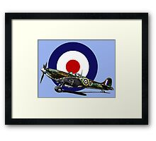 British Spitfire Fighter Plane Framed Print