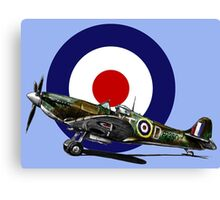 British Spitfire Fighter Plane Canvas Print