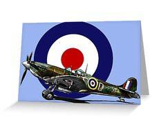 British Spitfire Fighter Plane Greeting Card