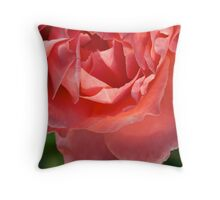 Friendly Pink Rose Throw Pillow