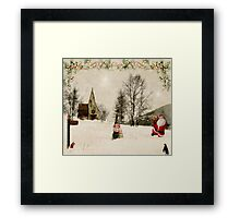 Going Home for Christmas... Framed Print