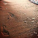 Footsteps on the sand by mishu78