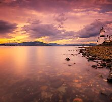 Cloch Lighthouse Sunset by NeilBarr