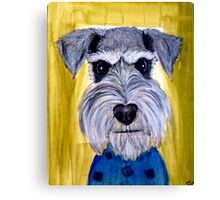 Face schnauzer dog art Canvas Print