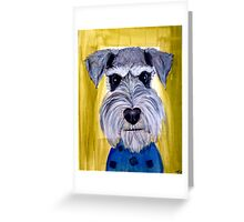 Face schnauzer dog art Greeting Card