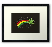 Rainbow Smiling Cannabis - #Cannabis Framed Print