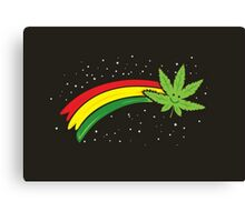 Rainbow Smiling Cannabis - #Cannabis Canvas Print