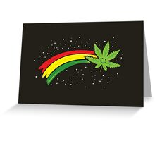 Rainbow Smiling Cannabis - #Cannabis Greeting Card