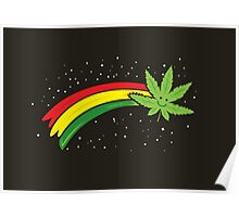 Rainbow Smiling Cannabis - #Cannabis Poster
