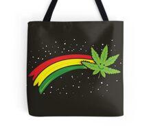 Rainbow Smiling Cannabis - #Cannabis Tote Bag