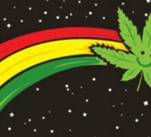 Rainbow Smiling Cannabis - #Cannabis Sticker