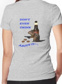 Don't even think about it Women's Fitted V-Neck T-Shirt