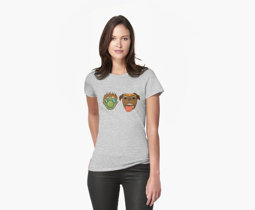 Feral Boy and Gilgamesh: A T-Shirt by nfpendleton
