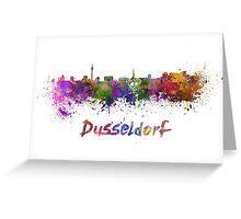 Dusseldorf skyline in watercolor Greeting Card