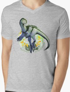 Agender Afrovenator (with text)  Mens V-Neck T-Shirt
