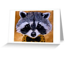 Face raccoon boy art Greeting Card