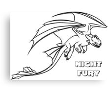 HOW TO TRAIN YOUR DRAGON - NIGHT FURY 01 Canvas Print