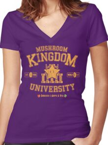 University 1-1 Women's Fitted V-Neck T-Shirt