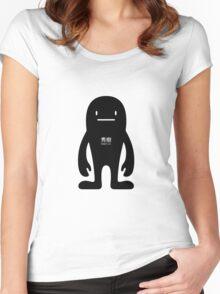 BasicDeki - Black Women's Fitted Scoop T-Shirt