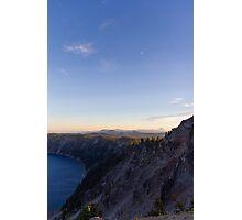 Moonrise Over the Rim Photographic Print