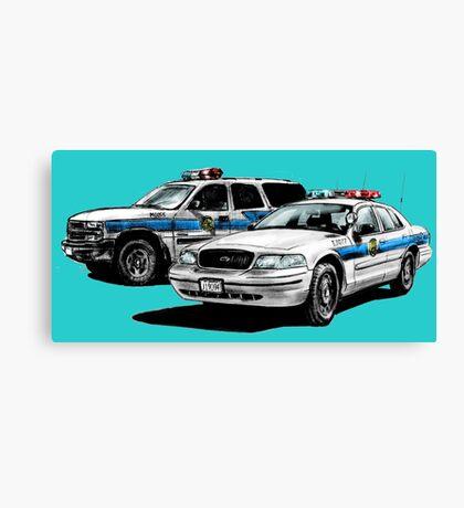 American Police Cars Canvas Print
