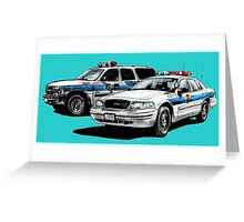 American Police Cars Greeting Card