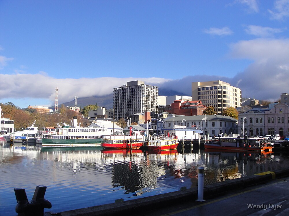 Ferries on hobart waterfront tasmania by wendy dyer for Home ideas centre hobart