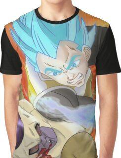 Vegeta SSJ God KO Frieza Graphic T-Shirt