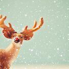holiday deer by beverlylefevre