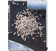 Dry green peppercorns, piper nigrum iPad Case/Skin