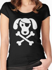 Pirate Dog  Women's Fitted Scoop T-Shirt