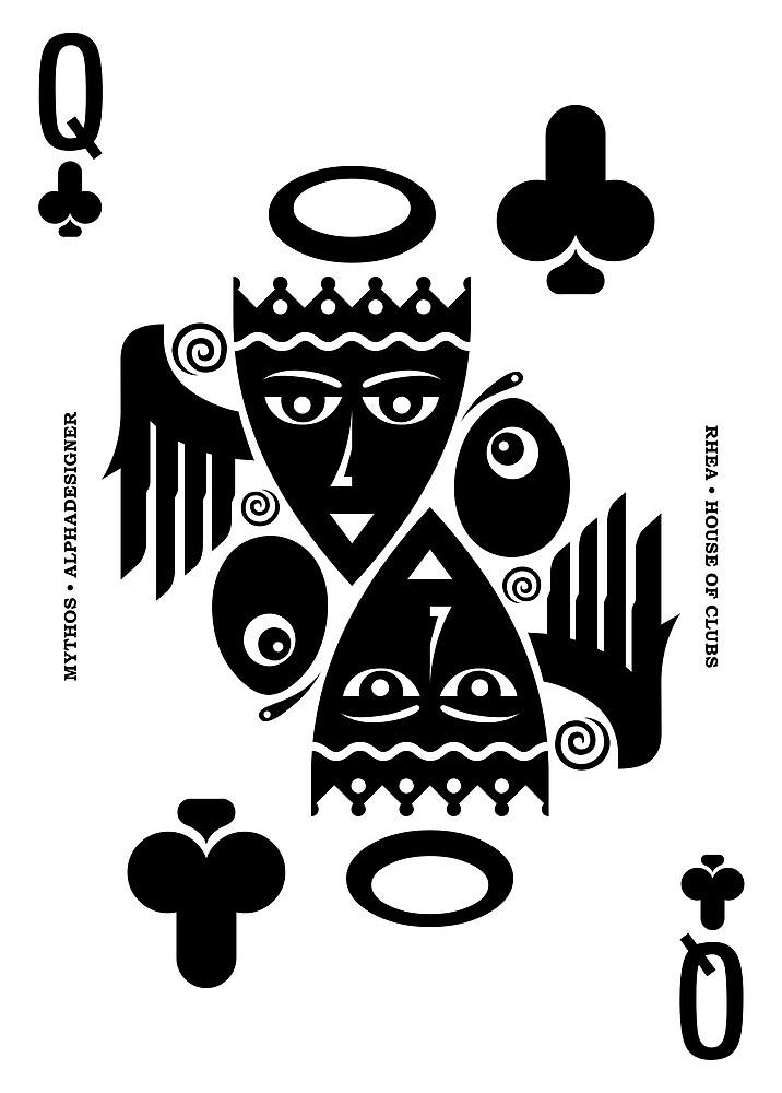 Rhea Queen of Clubs by Yanko Tsvetkov