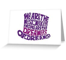 Willy Wonka Hat Dreams - Purple Greeting Card