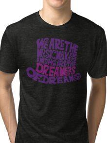 Willy Wonka Hat Dreams - Purple Tri-blend T-Shirt