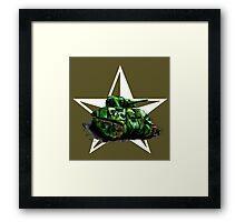 WW2 Sherman Army Tank Framed Print