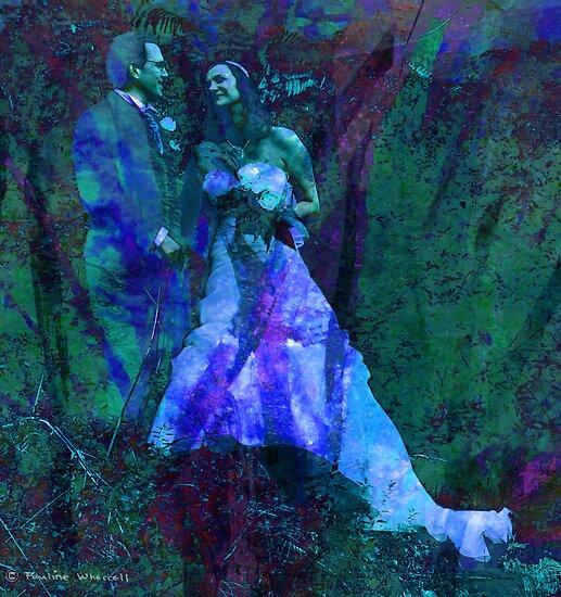 Bride and groom by © Pauline Wherrell
