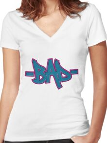 BAD Women's Fitted V-Neck T-Shirt