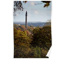 A view of Wainhouse Tower Halifax Poster